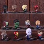 12pcs/set Marvel Infinty War Avengers Iron Man Thanos Doctor Strange Black Widow