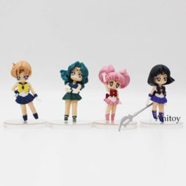 Anime Cartoon Cute Sailor Moon Sailor Jupiter Sailor Venus Q Version Action Figu