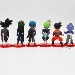 6 pcs/set Dragon Ball Super vol.5 & vol.6 Son Goku Vegeta Zen Black Trunks Mai P