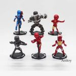6pcs/set Iron Man 1/7 scale painted figure PVC Figure Collectible Model Toy 8cm