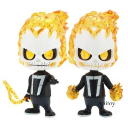 Ghost Rider Bobble Head Dolls PVC Figure Collectible Model Toys 11.5cm 2 Styles