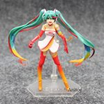 Anime Hatsune Miku Figma SP-078 Racing Miku 2016 Ver. PVC Action Figure Model To