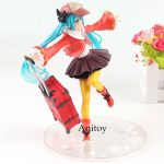 Anime Hatsune Miku Action Figure Miku in Autumn Clothes Ver. With Bagage Luggage
