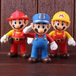 Super Mario Bros Super Size The Worker Mario Action Figure PVC Collectible Model