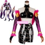 LOL KDA Girl Group Agony's Embrace Evelynn Tube Tops Dress Uniform Outfit Games Cosplay Costumes