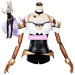 LOL KDA Girl Group The Nine-Tailed Fox Ahri Jumpsuits Uniform Outfit Games Cosplay Costumes