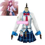 LOL Judgement Ahri The Nine-Tailed Fox Tops Dress Uniform Outfit Games Cosplay Costumes