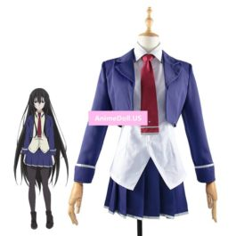 Machiavellism Amou Kirukiru School Uniform Coat Shirt Skirt Outfit Anime Cosplay Costumes