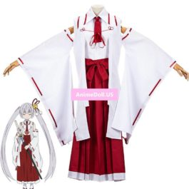 Machiavellism Tsukuyo Inaba Kimono Dress Uniform Tops Samurai Pants Outfit Anime Cosplay Costumes