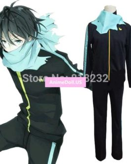 Noragami Yukine Yato Sports Wear Suit Uniform Coat Pants Scarf Outfit Anime Cosplay Costumes