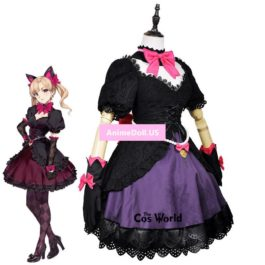 OW D.Va Hana Song Black Cat Luna Tee Dress Uniform Outfit Anime Cosplay Costumes