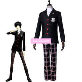 Persona 5 Hero Protagonist Coat School Uniform Pants Knitwear Suits Outfit Games Cosplay Costumes