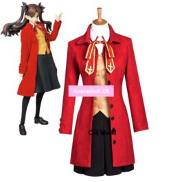 Fate stay night Tohsaka Rin School Uniform Dress Outfit Anime Cosplay Costumes