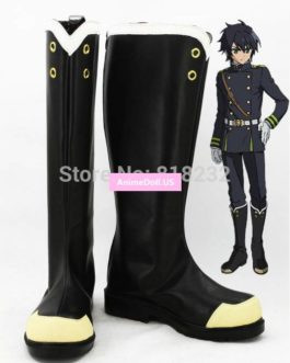 Seraph of the end Yuichiro Hyakuya Unisex Anime Cosplay Costumes Shoes Boots Customize