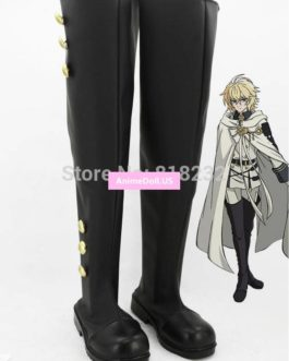 Seraph of the end Mikaela Hyakuya Unisex Anime Cosplay Costumes Shoes Boots Customize