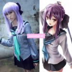Seraph Of The End Hiiragi Shinoa Gray Uniform Dress Sailor Suit Outfit Cosplay Costumes