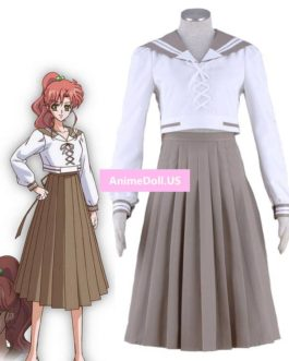 Sailor Moon Crystal Kino Makoto School Uniform Sailor Suit Long Sleeve Tops Dress Outfit Anime Cosplay Costumes