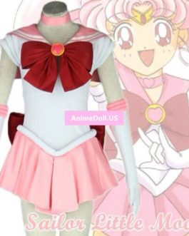 Sailor Moon Chibi Usa Nice Bowknot Dress Uniform Outfit Halloween Cosplay Costumes