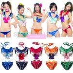 Sailor Moon Girl's Sexy Bikini Swimsuit Lingerie Sailor Suit Cosplay Costumes One Size 5Colors