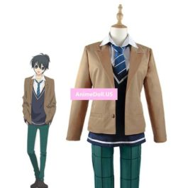 The Anonymous Noise Yuzuriha Kanade School Uniform Coat Shirt Vest Pants Outfit Anime Cosplay Costumes