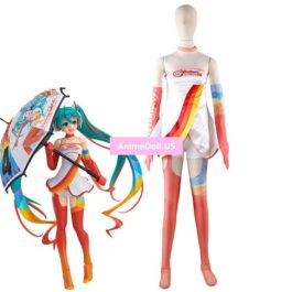 2016 Vocaloid Hatsune Miku Racing Suit Jumpsuits Tube Tops Tee Dress Uniform Shorts Outfit Anime Cosplay Costumes