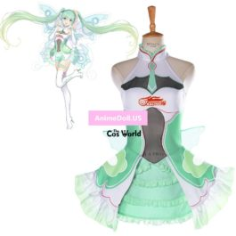 2017 Vocaloid Hatsune Miku Fight GSR Racing Suit Dress Uniform Outfit Anime Cosplay Costumes