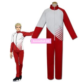 YURI!!! on ICE Christophf Giacometti Coat Jacket Pants Sportswear Jersey Uniform Outfit Anime Cosplay Costumes