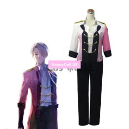 YURI!!! on ICE Victor Nikiforov Coat Jacket T-shirt Tops Pants Uniform Swallowtail Suit Outfit Anime Cosplay Costumes