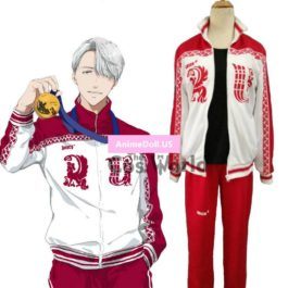 YURI!!! on ICE Victor Nikiforov Coat Jacket T-shirt Tops Pants Sportswear Jersey Uniform Outfit Anime Cosplay Costumes