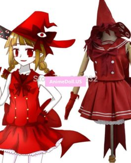 Wadanohara And The Great Blue Sea Sailor Suit Uniform Tops Dress Outfit Cosplay Costumes