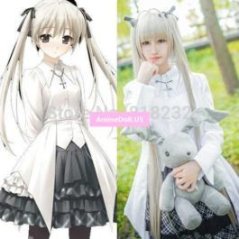 Yosuga no Sora Kasugano Sora Lolita Uniform Shirt Dress Outfit Anime Cosplay Costumes
