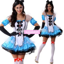 Alice's Adventures in Wonderland Oktoberfest Bubble Princess Dress Maid Outfit Uniform Cosplay Costumes