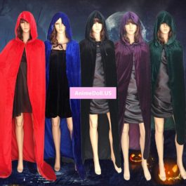 Halloween Hallowmas Adult Children Kids Death Witch Demon Devil Long Hooded Cloaks Capes Cosplay Costumes Christmas Gift Present