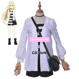 Angels of Death Ray Rachel Gardner Coat T-shirt Tops Shorts Uniform Outfit Anime Cosplay Costumes