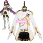 Fate EXTELLA Link Scathach Uniform Dress Anime Outfit Cosplay Costumes