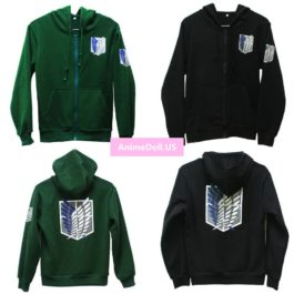 New Attack On Titan Survey Legion Hoodie Sweatshirt Cosplay Costume Jacket Coat