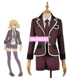 Fate Apocrypha Joan of Arc Ruler Coat Jacket Shirt Shorts Uniform Outfit Anime Cosplay Costumes