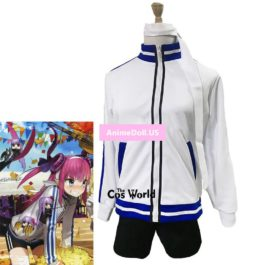 Fate EXTRA CCC Elizabeth Bathory Gym Suit Sports Wear Coat Shorts Uniform Outfit Anime Cosplay Costumes