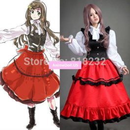 APH Axis Powers Hetalia Elizaveta Hedervary Formal Dress Uniform Outfit Anime Cosplay Costumes