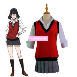 Comics Kakegurui Compulsive Gambler Ikishima Midari School Uniform Sweater Vest Waistcoat Shirt Skirt Anime Cosplay Costumes