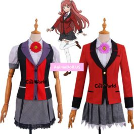 Comics Kakegurui Compulsive Gambler Yumemite Yumemi School Uniform Dress Coat Shirt Skirt Outfit Anime Cosplay Costumes