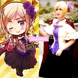 APH Axis Powers Hetalia Francis Bonnefeuille Dress Uniform Outfit Cosplay Costumes