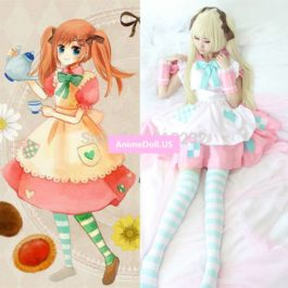 APH Axis Powers Hetalia Rosa Apron Dress Maid Outfit Uniform Anime Cosplay Costumes