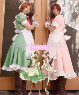 APH Axis Powers Hetalia Maid Outfit Apron Dress Uniform Cosplay Costumes