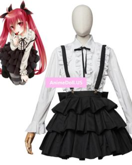 DATE A LIVE Itsuka Kotori School Uniform Shirt Skirt Outfit Anime Cosplay Costumes