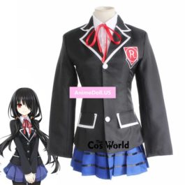 DATE A LIVE Tokisaki Kurumi School Uniform Coat Shirt Dress Outfit Anime Cosplay Costumes