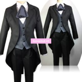 Miss Kobayashi's Dragon Maid Fafnir Swallow-tailed Coat Suits Uniform Outfit Anime Cosplay Costumes