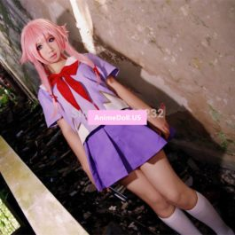 Future Diary Gasai Yuno Sailor Suit School Uniform Dress Outfit Cosplay Costumes
