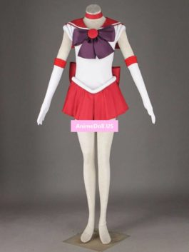 Sailor Moon Hino Rei Hot Bowknot Dress Uniform Cosplay Costumes Halloween Party Dresses Any Size Customized