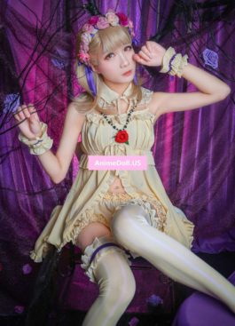 SINoALICE Briar Rose Nightdress Pajamas Braces Slip Tube Top Tee Dress Lace Cape Bubble Pants Outfit Games Cosplay Costumes